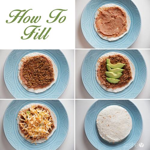 Cheesy Beef Quesadillas with Avocado (filling) copy