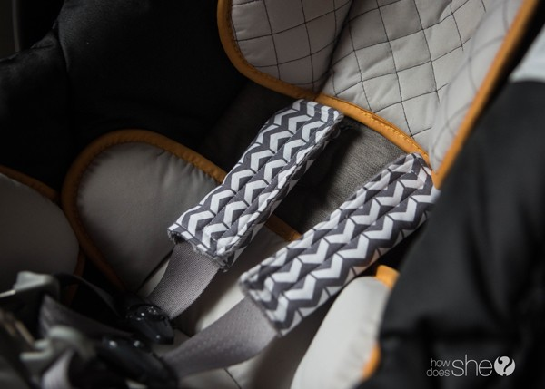 DIY Car Seat Strap Covers - Perfect Baby Shower Gift (15)