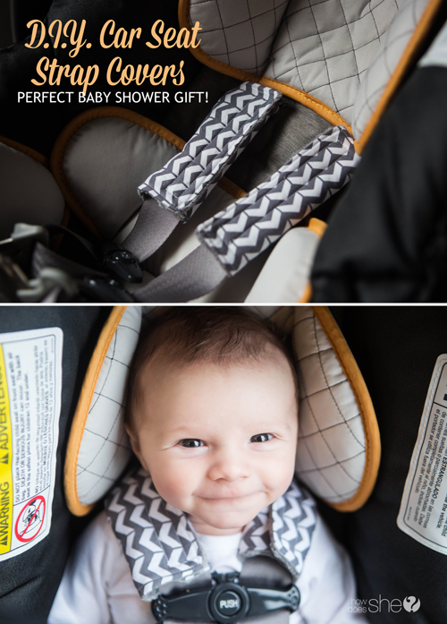 D.I.Y Car Seat Strap Covers - Perfect Baby Shower Gift! | How Does She