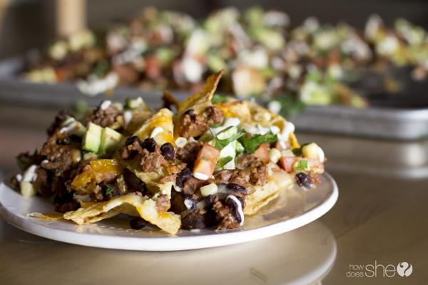 Macho Nacho's Grande' with Avocado Salsa and Tomatillo Dressing (11)