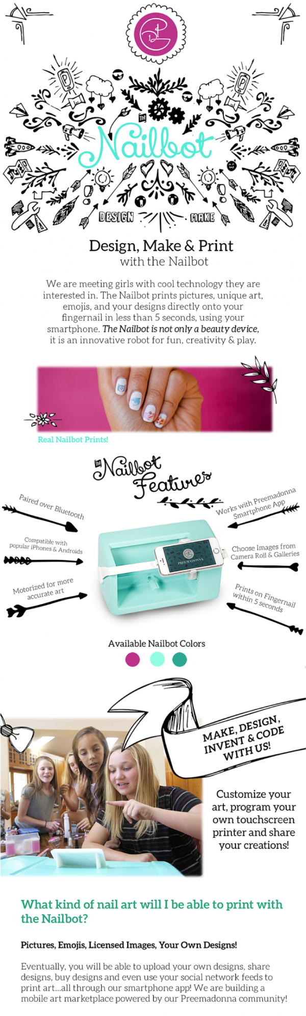Design, Make, and Print with the Nailbot. Coolest Invention Ever ...