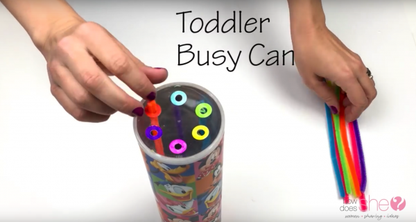 How to make a Toddler Busy Can