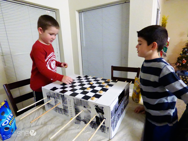 Easy Homemade Foosball Table And Checkerboard How Does She
