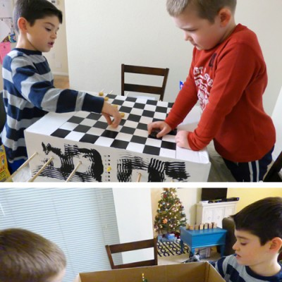Easy Homemade Foosball Table and Checkerboard