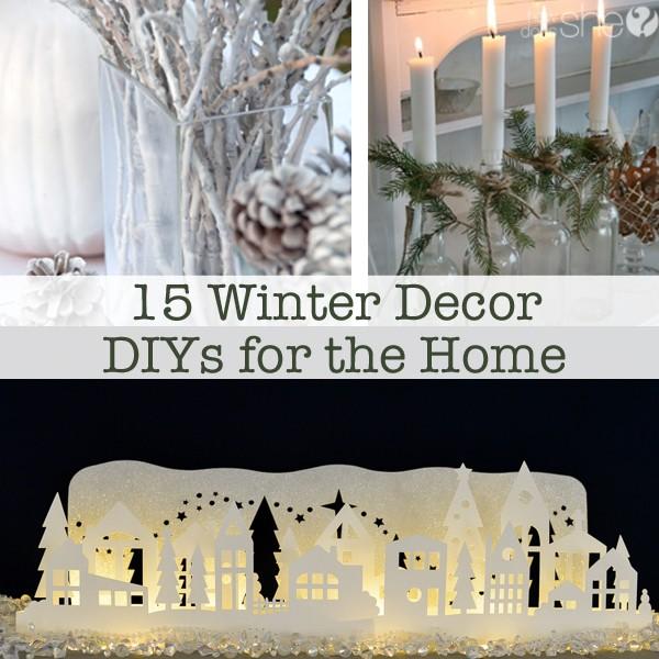 15 Winter Decor DIYs for the Home