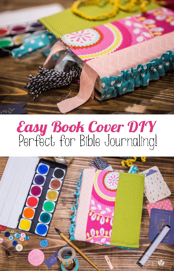 Easy Book Cover DIY - Perfect for Bible Journaling