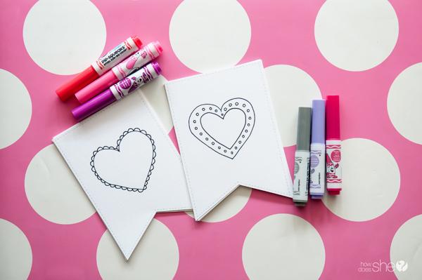 Free printable valentine's banner (1)