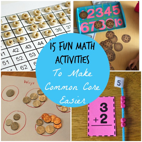 Fun Math Activities to make common core easier