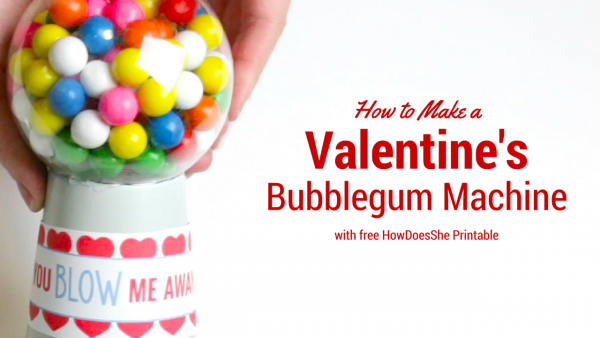 How to Make a Valentine's Bubblegum Machine
