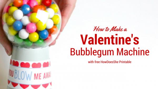 How to Make a Valentine's Bubblegum Machine
