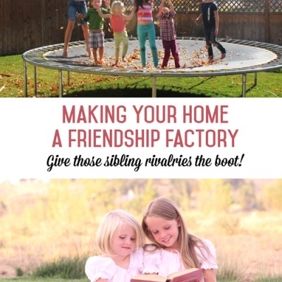 How to make your home a friendship factory- give those sibling rivalries the boot!