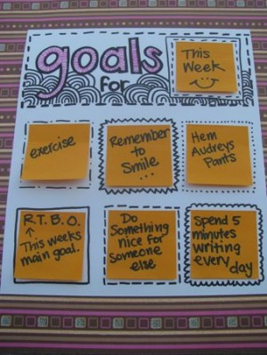 Post-it-Note-Goal-Chart