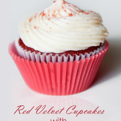 Moist Red Velvet Cupcakes with the BEST Cream Cheese Frosting