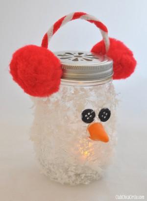 Snowman-Mason-Jar-Luminary-Holiday-Ornament-Craft