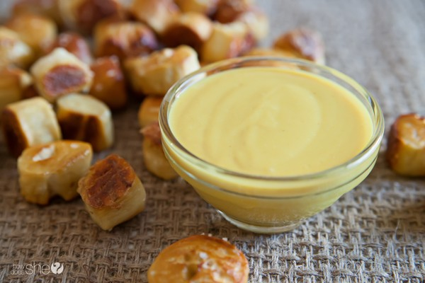 Soft Pretzel Bites with the BEST EVER Honey Mustard Dip (6)