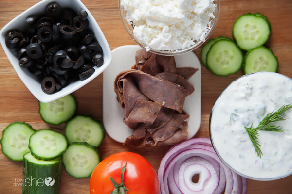 quick and easy roast beef gyros (4)