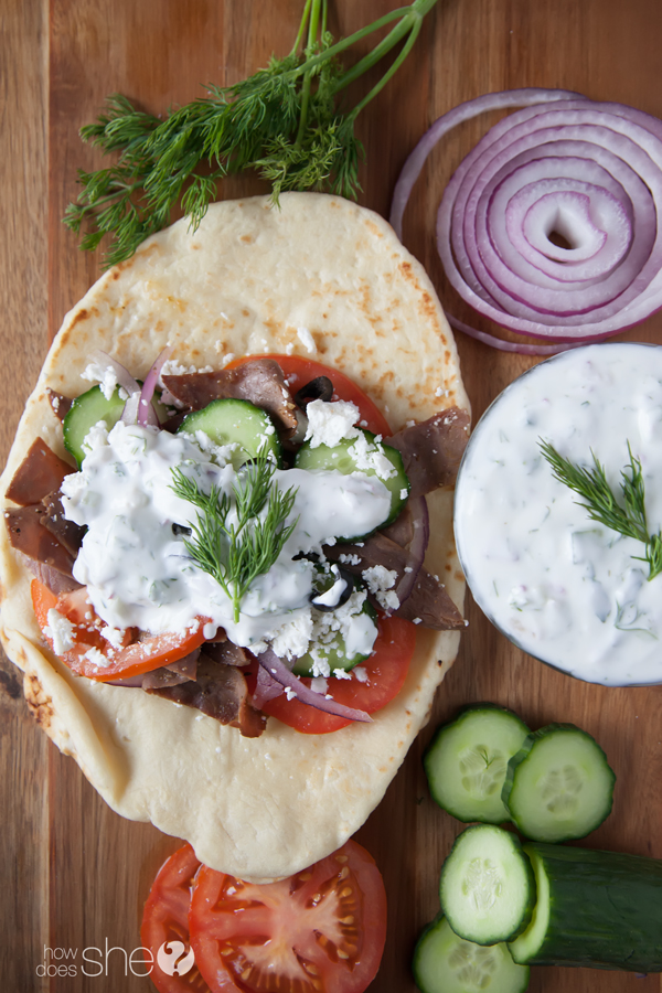 quick and easy roast beef gyros (6)