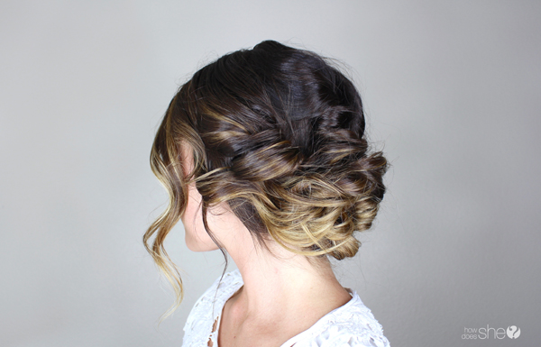 romantic updo perfect for valentine's day (2)