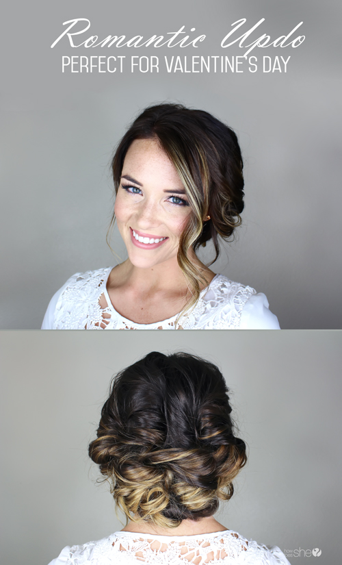 How to achieve the perfect romantic updo - perfect for Valentine's Day!