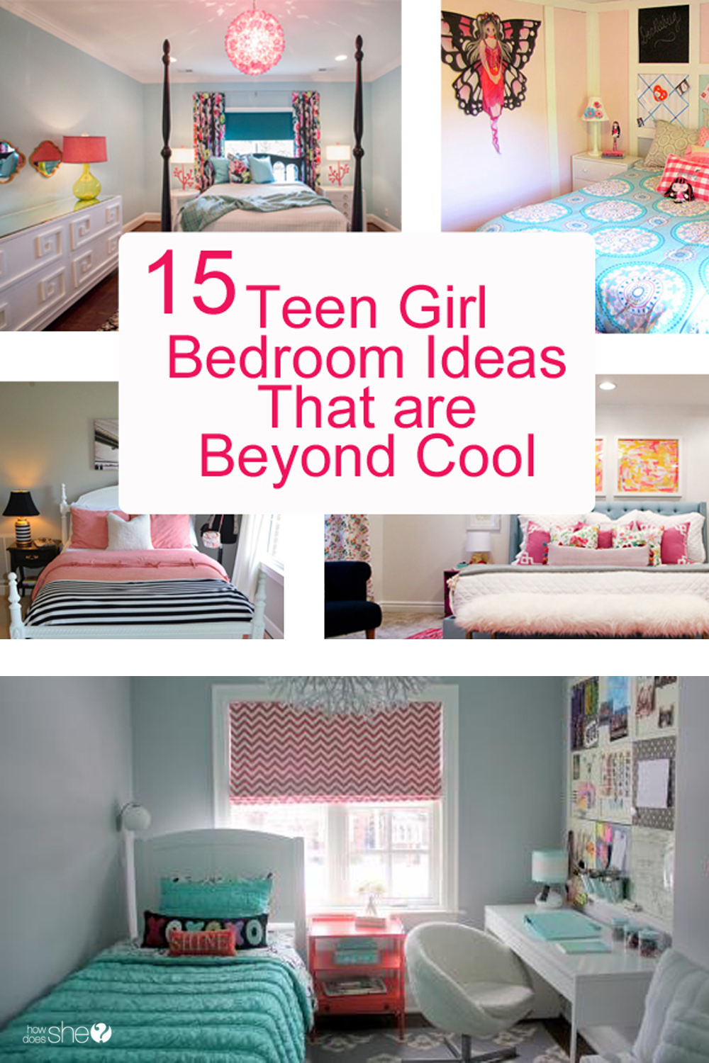 Teen Girl Bedroom Ideas - 15 Cool DIY Room Ideas For Teenage ...
