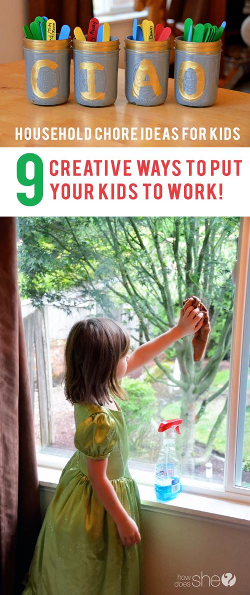 Household Chore Ideas for Kids