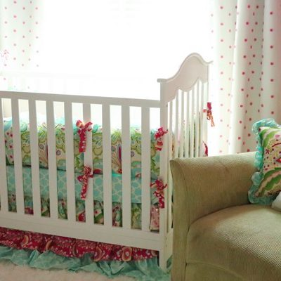 Decorating a Playful Girl's Nursery – Featuring Carousel Designs Baby Bedding – Plus a $500 Giveaway!