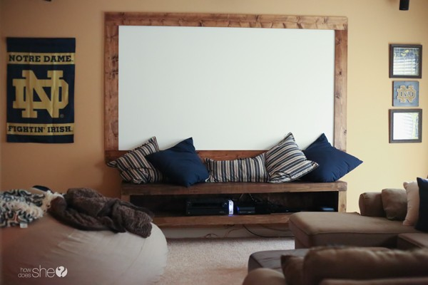 man cave theatre room