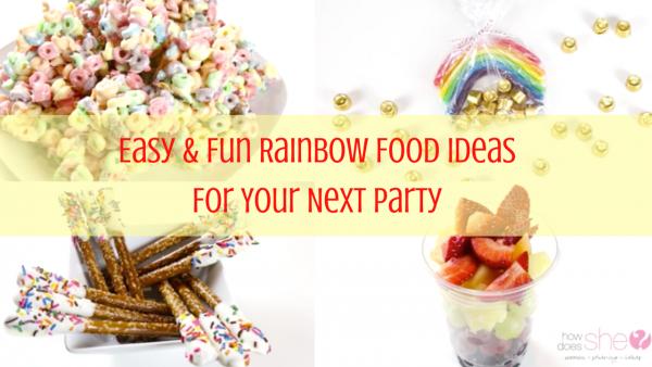 Easy and Fun Rainbow Food Ideas