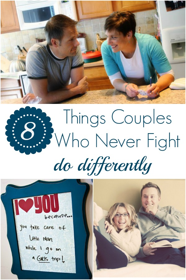 Couples who never fight