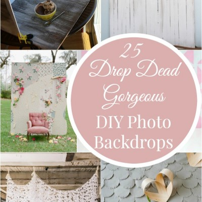 25 Drop Dead Gorgeous DIY Photo Backdrops