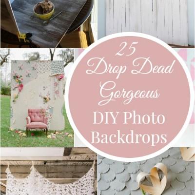 25 Drop Dead Gorgeous DIY Photo Backdrops