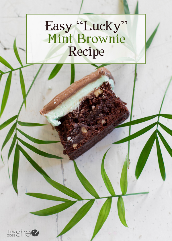 Easy Lucky mint brownie recipe (1)