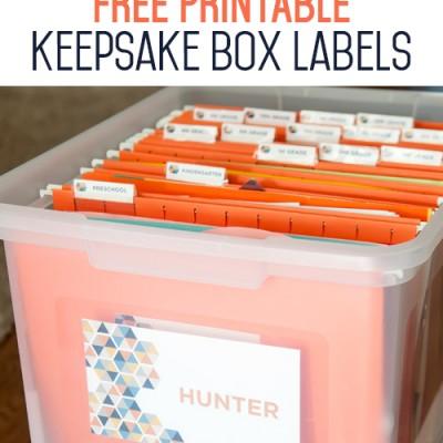 Free Printable Keepsake Box Labels