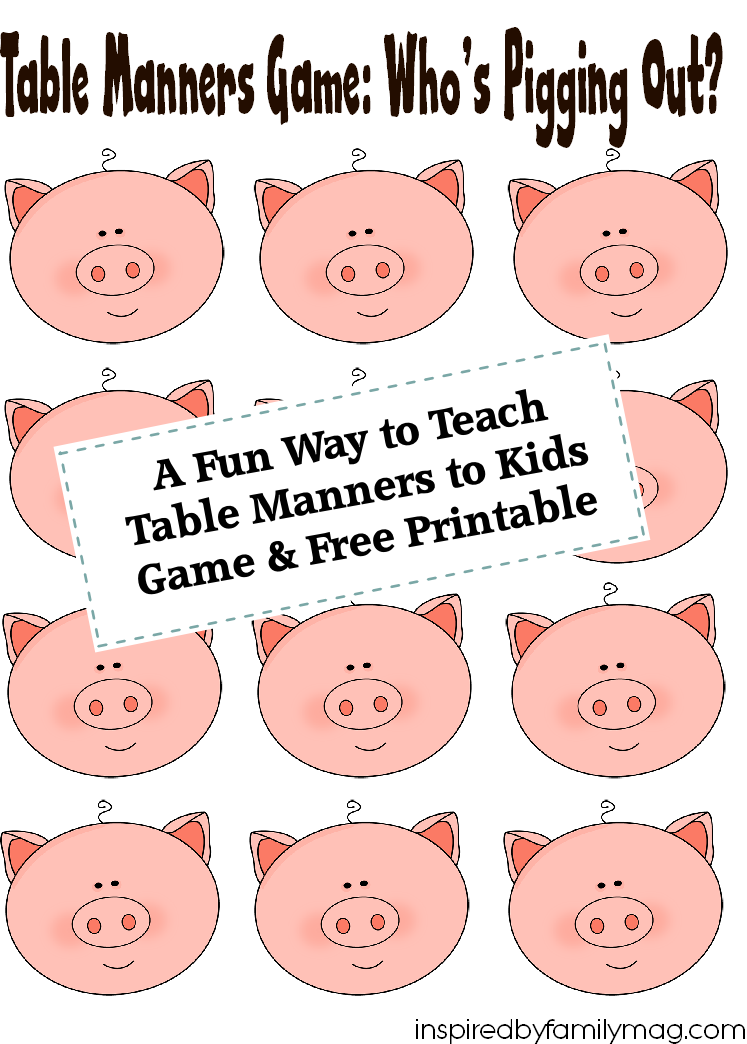 Manners activities