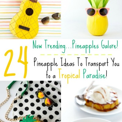 Pineapples Galore!  24 Pineapple Ideas To Transport You to a Tropical Paradise!