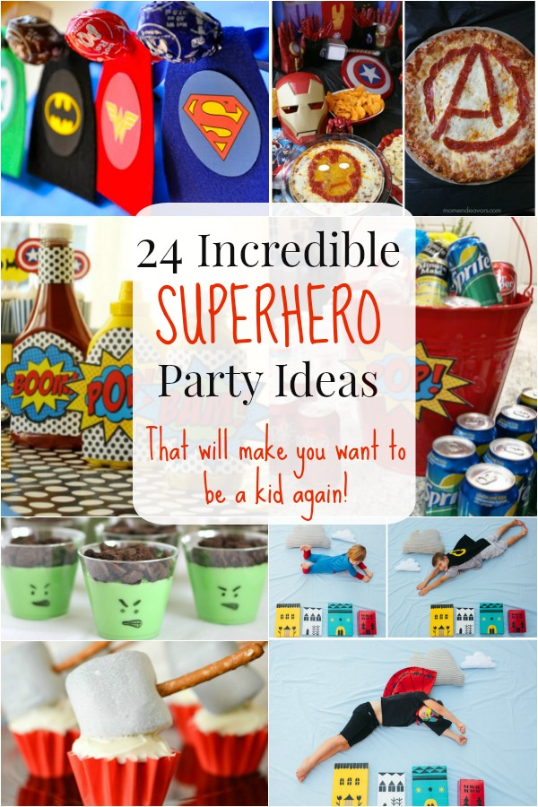24 Superhero Party Ideas That Will Make You Wish You Were