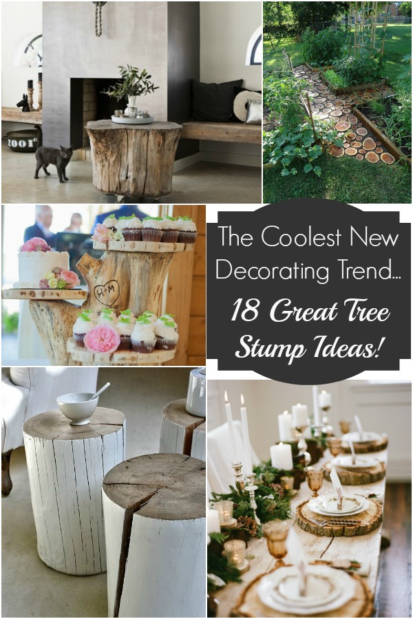 Tree stump decor