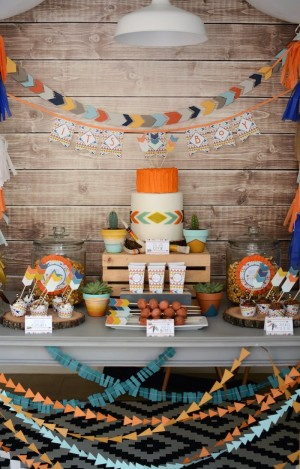 Tribal-Little-Brave-Man-themed-baby-shower-via-Karas-Party-Ideas-KarasPartyIdeas.com8_