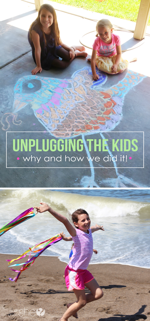 Unplugging the kids- why and how we did it