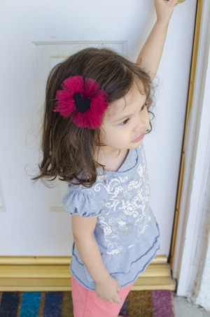 how to make a hair bow out of tulle