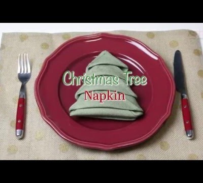How to Make a Christmas Tree Napkin: Easy How-to Video