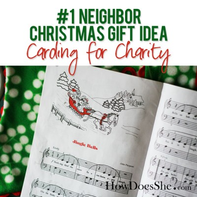 #1 Neighbor Christmas Gift Idea – Caroling for Charity