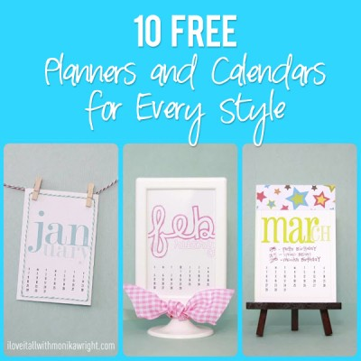 10 FREE Planners and Calendars for Every Style!