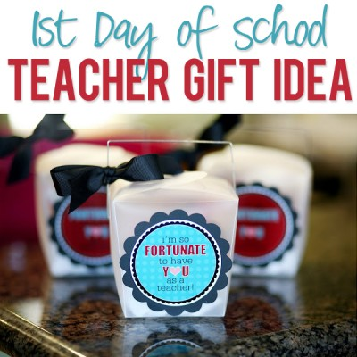 1st day of school teacher gift idea