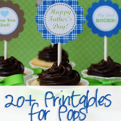 20+ Printables for Pops!