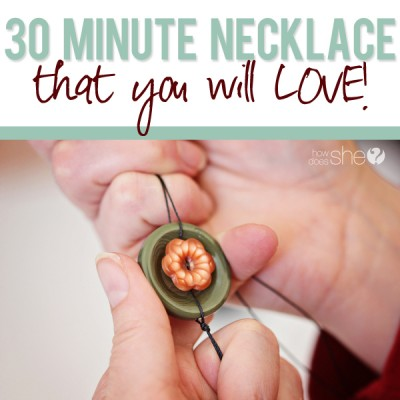 30 Minute Button Necklace that You'll LOVE!