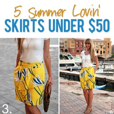 5 Summer Lovin' Skirts under $50