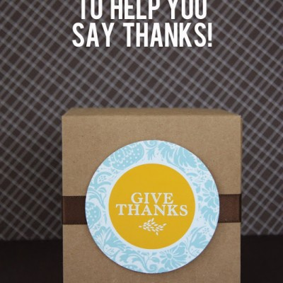 7 Printables To Help You Say THANKS