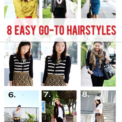 My favorite, easy, go-to hairstyles