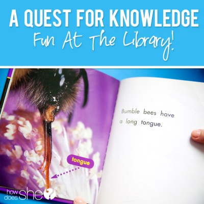 A Quest for Knowledge- Fun At the Library!
